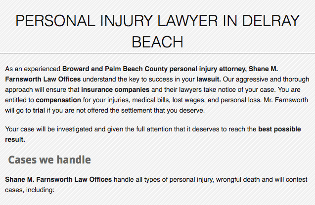 PERSONAL INJURY LAWYER IN DELRAY BEACH